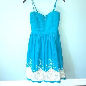 Speechless Turquoise Sweetheart Short Dress